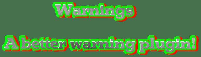 [Plugins][1.8]Warnings - Предупреждения