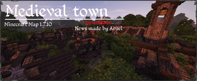 [Map][1.7.10] Medieval Town - средневековый город
