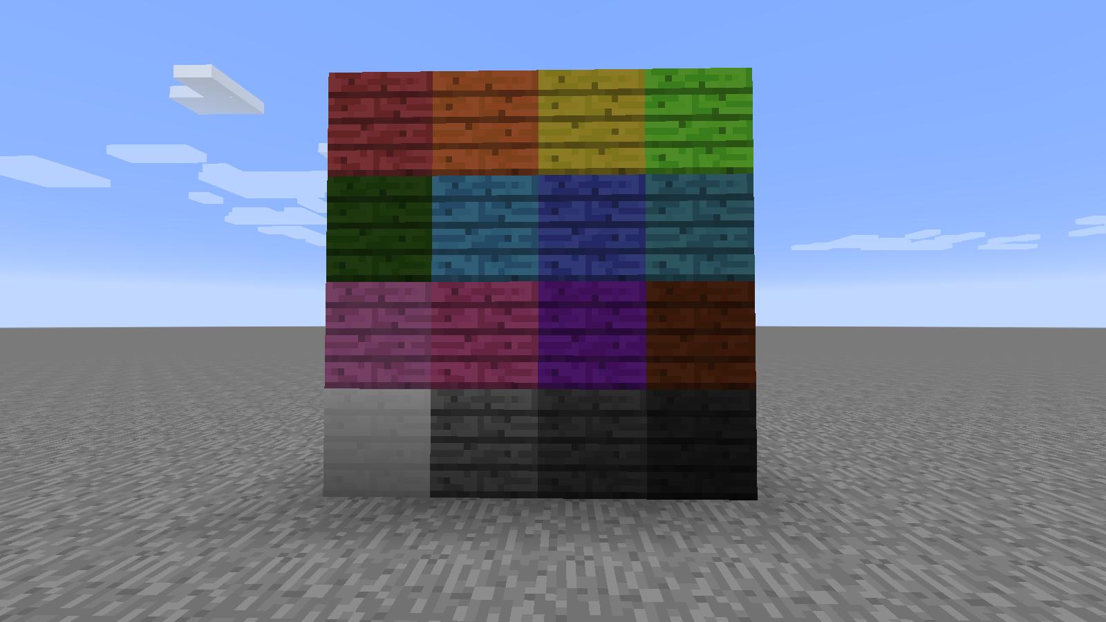 Skull's Decor Blocks - крашеные доски и кирпичи [1.7.10][Русифицирован]