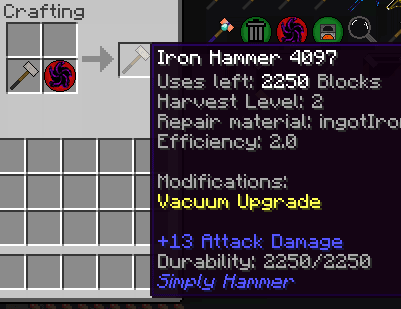 [1.7.10] Simply Hammers - Идеальные молоты!