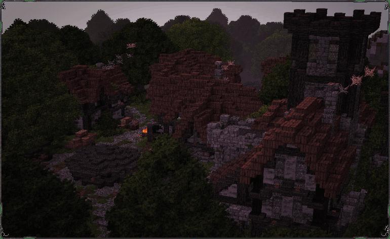 [Map][1.7.10] Medieval Village - средневековая деревня